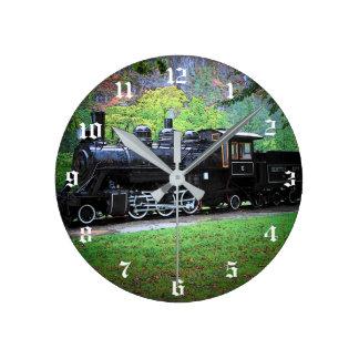 Retired Train Engine Round Clock