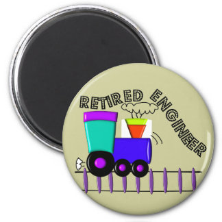 Retired Train Engineer Gifts 6 Cm Round Magnet