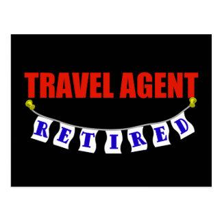 Retired Travel Agent Postcard