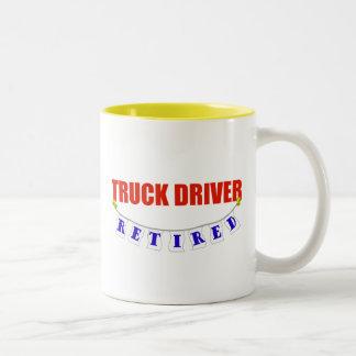 Retired Truck Driver Two-Tone Coffee Mug
