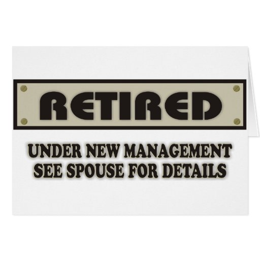 RETIRED. Under New Management Greeting Card
