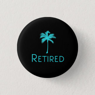 Retired Vacation Palm Tree 3 Cm Round Badge