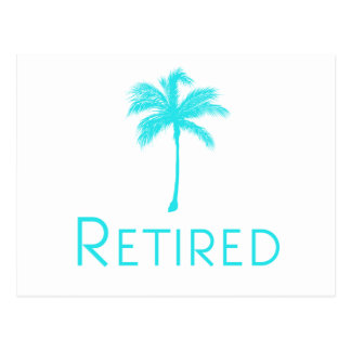 Retired Vacation Palm Tree Postcard