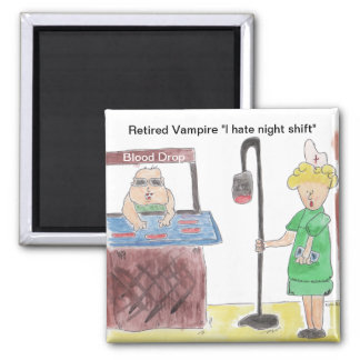 Retired Vampire Square Magnet