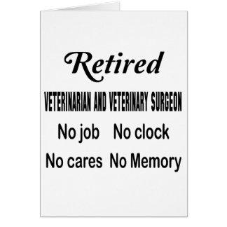 Retired Veterinarian and veterinary surgeon No job Card