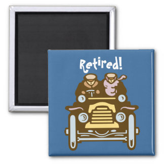 Retired: Vintage Car Square Magnet