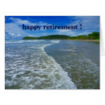 retired waves big greeting card