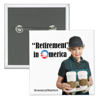 Retirement 15 Cm Square Badge