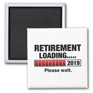 Retirement 2019 Loading Magnet