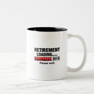 Retirement 2019 Loading Two-Tone Coffee Mug