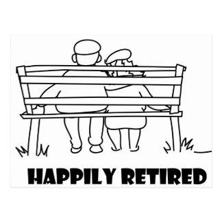 Retirement accessoried postcards