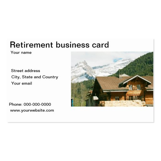 Retirement business card template
