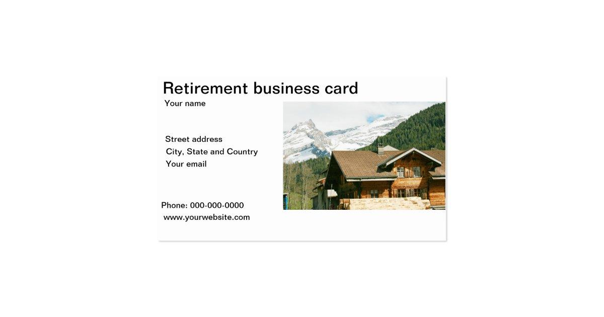 retirement business card template zazzle. Black Bedroom Furniture Sets. Home Design Ideas