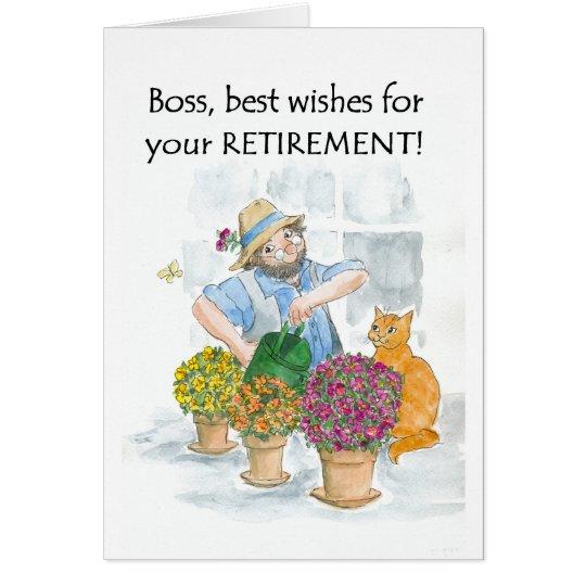 Retirement Card for a Boss - Gardener