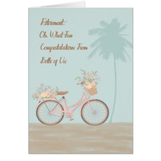 Retirement Card from Both of Us with Bycycle