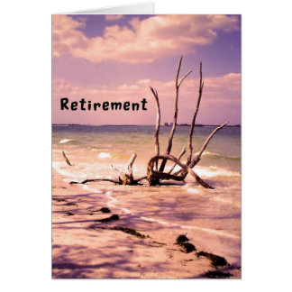 Retirement Card with Colorful Beach Scenic
