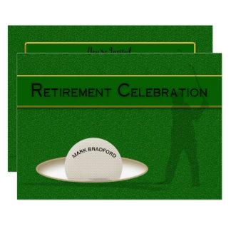 Retirement Celebration for Golfer - Golf Ball Card
