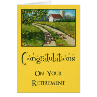 Retirement Congratulations: Country Road, PAINTING Card