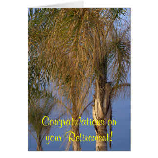 Retirement Congratulations Palm Trees Card Cards