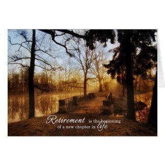 Retirement Congratulations Scenic Lake View Card
