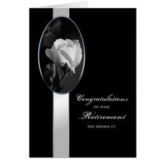 RETIREMENT CONGRATULTIONS - ELEGANT ROSE GREETING CARDS