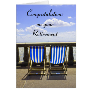 Retirement Deckchair card