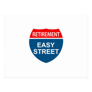 Retirement Easy Street Postcard
