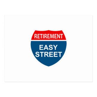 Retirement Easy Street Postcard