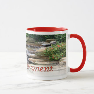 Retirement Garden Waterfall Cascade Ringer Mug