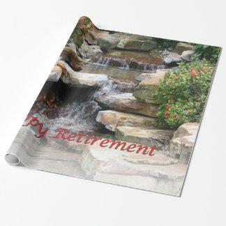 Retirement Garden Waterfall Cascade Wrap Paper