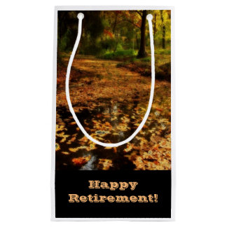 Retirement, Gift bag, walk in woods. Small Gift Bag