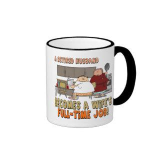 Retirement Gifts and Retirement T-shirts Ringer Mug