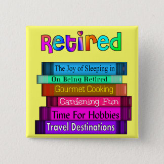 Retirement Gifts Unique Stack of Books Design 15 Cm Square Badge