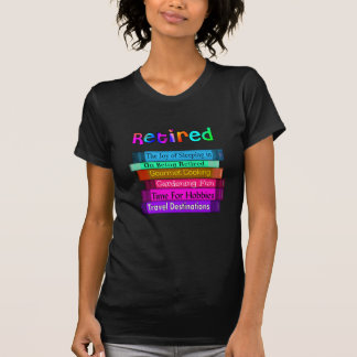 Retirement Gifts Unique Stack of Books Design T Shirt