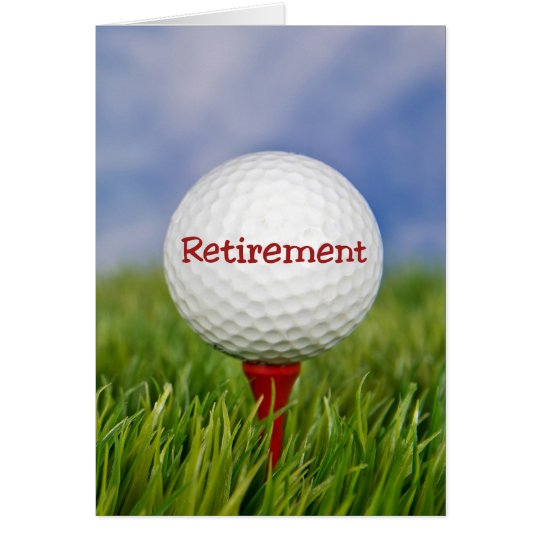 Retirement Golf Ball Card