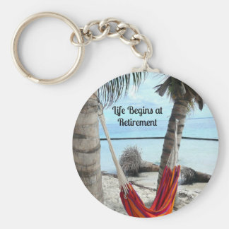 Retirement Hammock Key Ring