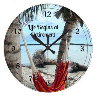 Retirement Hammock Large Clock