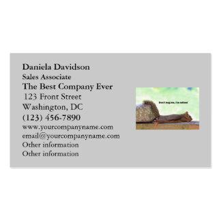 Retirement Humor Squirrel Business Card Templates