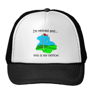 Retirement humour for golfers hat