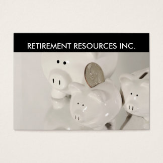 Retirement Investment Business Cards