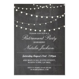 Retirement Invitation Chalk Elegant Lights Invite