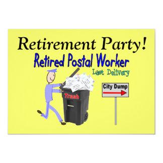 Retirement Invitations-Postal Worker 13 Cm X 18 Cm Invitation Card