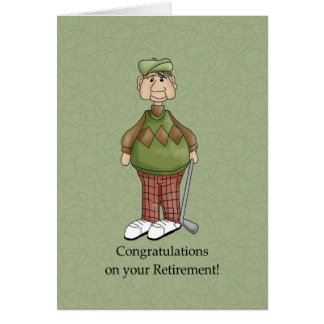 Retirement Male - Humor Card