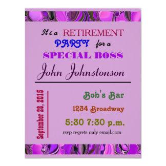 retirement party 11 cm x 14 cm invitation card