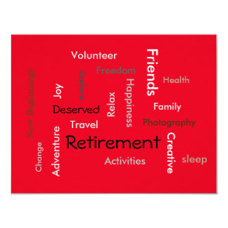 Retirement party:(customize words/ invitations