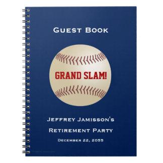 Retirement Party Guest Book, Baseball, Grand Slam Notebook