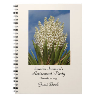 Retirement Party Guest Book, Blooming Yucca Notebook