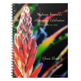 Retirement Party Guest Book, Exotic Aloe Flower Notebook