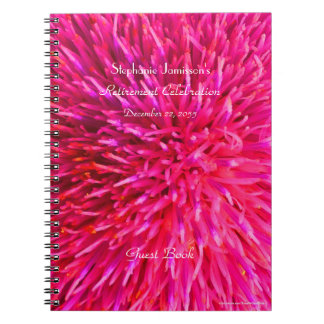 Retirement Party Guest Book, Hot Pink Abstract Notebook