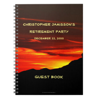 Retirement Party Guest Book, Kolob Sunset Notebook